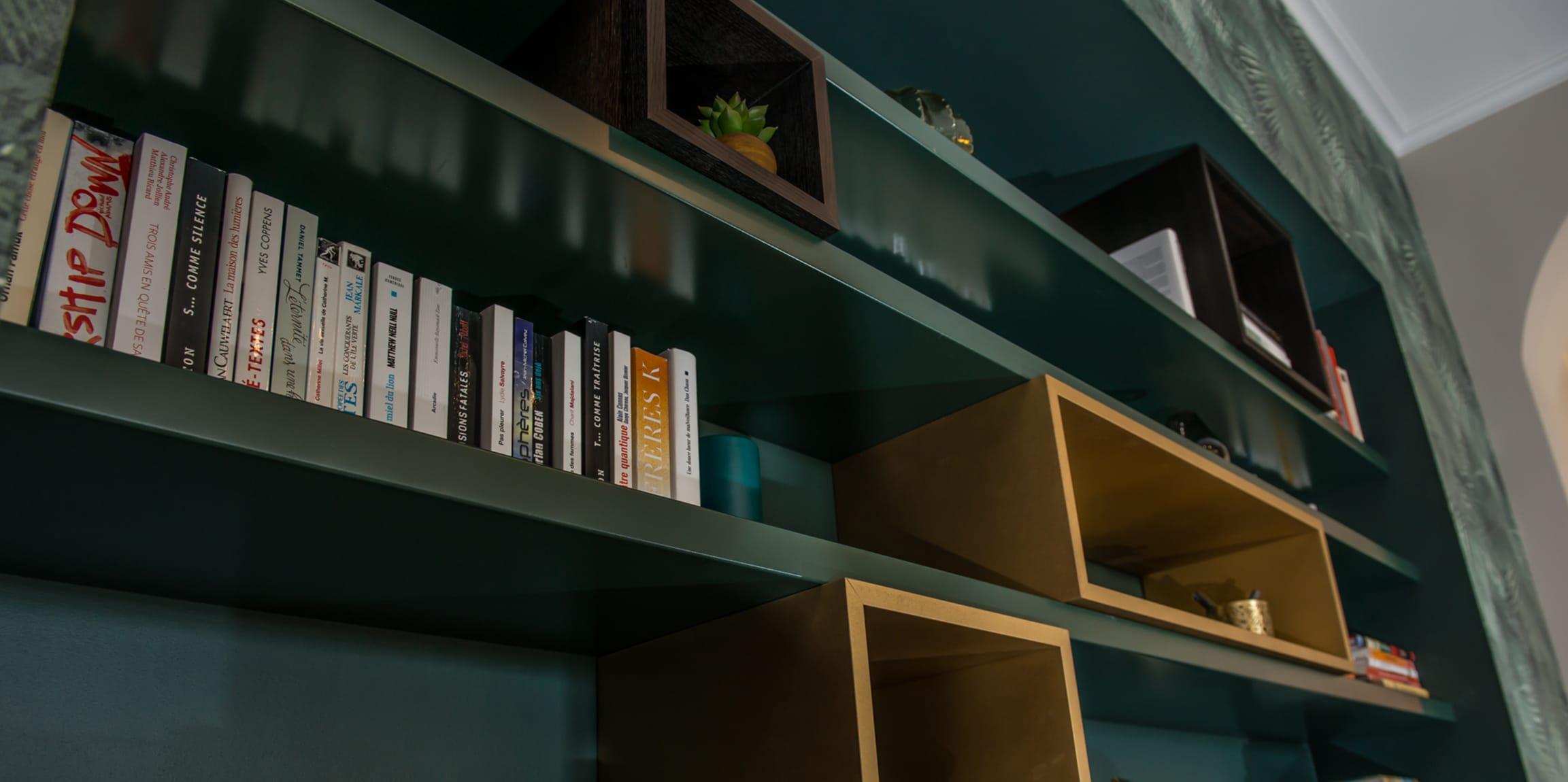 Bibliothèque sur-mesure design